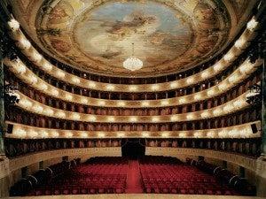 La Scala Opera House, designed by architect Giuseppe Piermarini in the late 1700's.