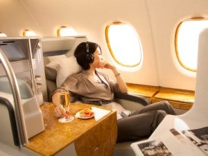 Emirates' business class is pretty over-the-top too.