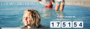 Save up to 40% during the Loews |Cyber Weekend Sale
