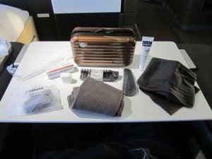 The collectible Rimowa amenity kit.