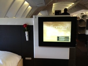 Lufthansa first tv