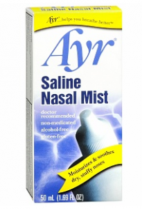 Nasal spray will stop you from getting dried out.