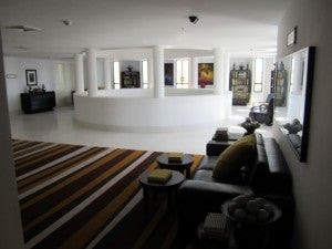 The rotunda and room corridors on the third floor.