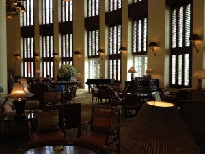 The Park Lounge is also the hotel's martini bar, and a popular spot at night.