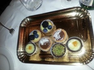 Delicious Italian desserts at Da Giacomo.