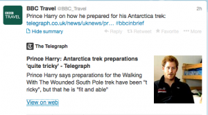 Prince Harry is prepping for his trip to Antarctica.