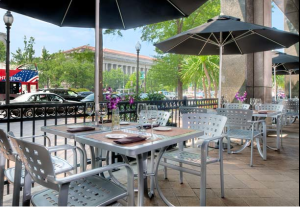 Outdoor patio at the JW Marriott DC