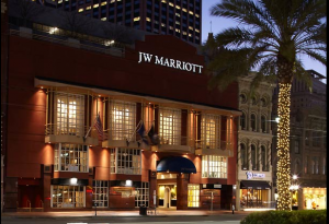 The JW Marriott is one block from the famous Bourbon Street.