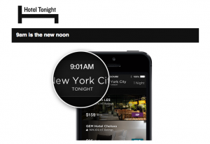 No more waiting till noon to book with Hotel Tonight.