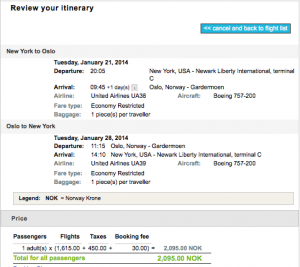 My sample Scandinavian itinerary only cost $345.