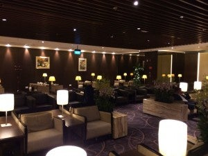 The main living room area of the Krisflyer lounge.