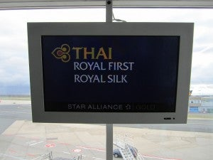 Thai boarding sign