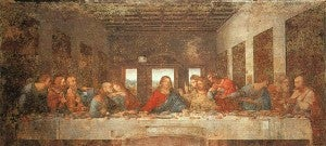 The Last Supper, one of Leonardo DaVinci's most famous paintings, finished in 1498.