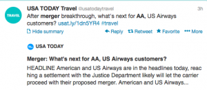 What will happen when US Airways and American merge?