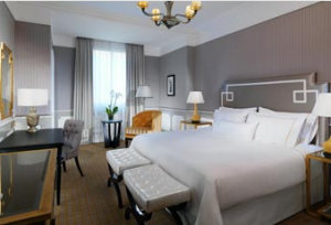 A standard room at the Westin