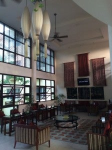 Natural light shines through in the Hulhule Lobby.