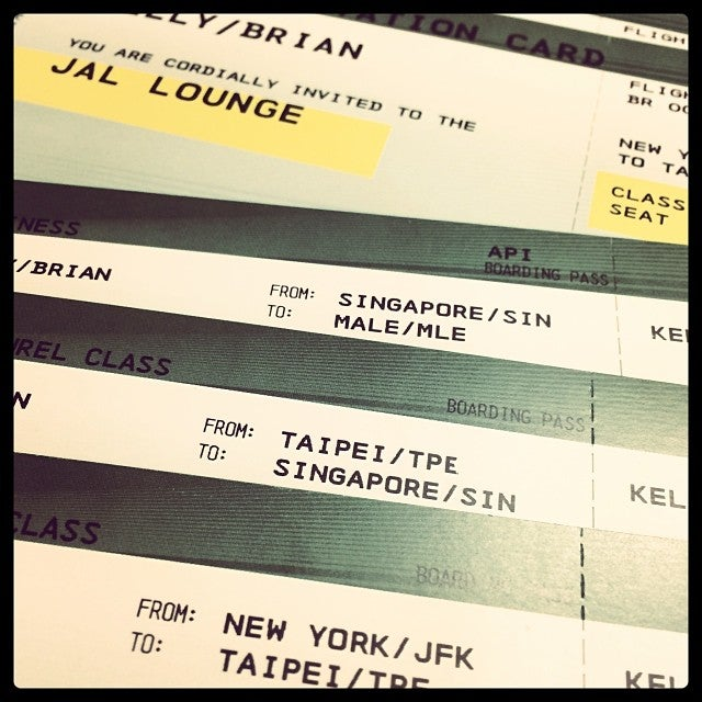 Starting off with JFK-Taipei on Eva Air Royal Laurel Class.