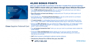 Why not each get your own Sapphire Preferred and your own bonus?