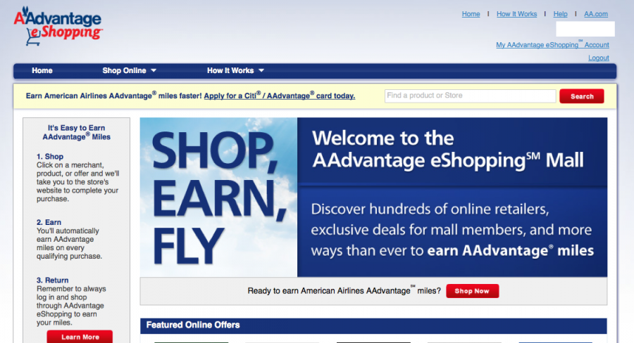 Click through shopping portals like American's for extra points and miles.