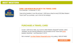 Aeroplan Best Western offer