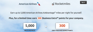 Earn personal and business miles on American with Rocketmiles.