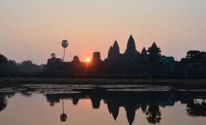 Angkor Wat at sunrise.