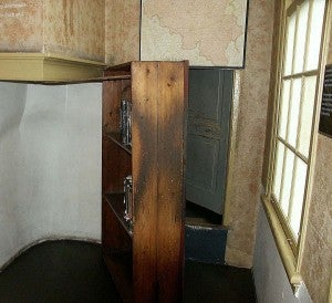 You can actually see the swinging bookcase and walk through where Anne Frank spent years in hiding.