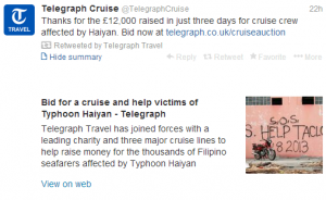 Participate in this auction to help victims of the Haiyan Typhoon.