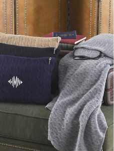The Ralph Lauren Cabled Cashmere Travel Set is a cool way to stay warm.