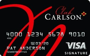 The Club Carlson Visa's half-price award night benefit is one of the best out there.