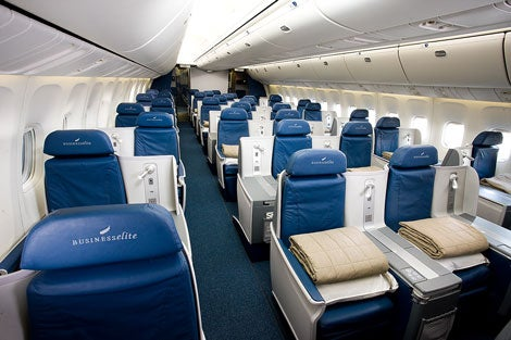 Delta lie-flat BusinessElite product on the 767