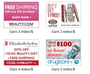Get 4 United miles per dollar spent at Elizabeth Arden.