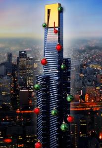 The Eureka Tower reaches