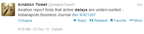 Flight delays are not being reported as they should.