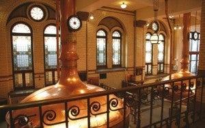 Giant vats of beer making at the Heineken Experience.