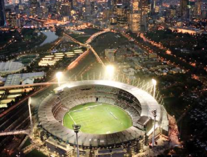 View of the MCG from the Hilton On The Park Melbourne Hotel.