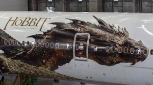 Air New Zealand's customized plane for the The Hobbit: The Desolation of Smaug.