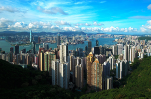 A view of Hong Kong from Victoria Peak.