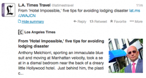 @LA Times Travel has tips to finding good lodging.