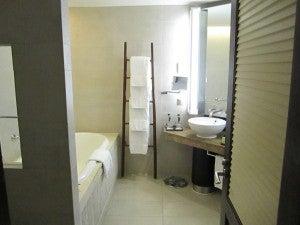 The bathroom was nice...if industrial feeling.