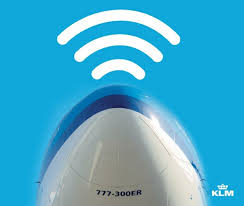 KLM allows WiFi, texting and voice calls on the B777-300 ER planes.