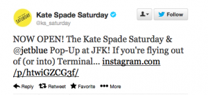 Shop for Kate Spade if you are flying through JFK's T5.