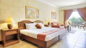 A guestroom at the Kempinki Gozo.