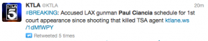 LAX shooting suspet Paul Ciancia will appear in court on December 4.
