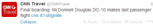 McDonnell Douglas DC-10 makes last passenger flight.