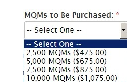 Prices to buy MQMs aren't cheap.