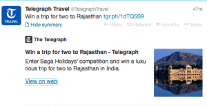 Win a trip for two to Rajasthan.