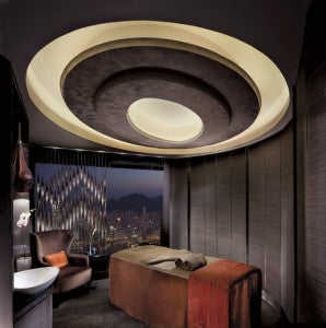 A treatment room at the Ritz Carlton Hong Kong Spa by Espa.