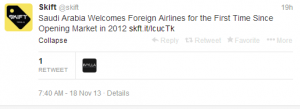 Now that Saudi Arabia is welcoming foreign airlines, Qatar is ready to move in!
