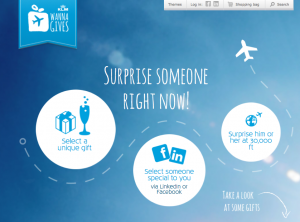 KLM's Wannagives service.